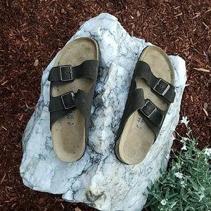 Birkenstock NWOT Arizona Mocha Suede Sandals